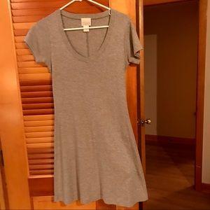 Moda International Gray T Shirt Dress size S